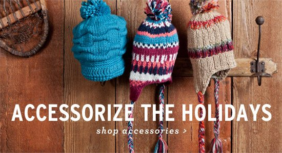 Accessorize the Holidays. Shop Accessories