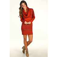 Michael Stars Ombre Marl Cowl Sweater Dress