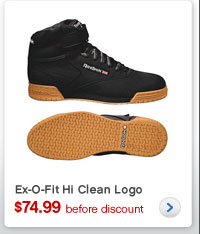 Ex-O-Fit Hi Clean Logo | $74.99 before discount