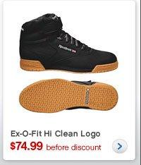 Ex-O-Fit Hi Clean Logo | $74.99 before discount