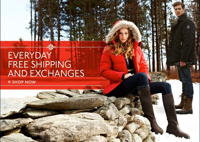 Everyday Free Shipping and Exchanges