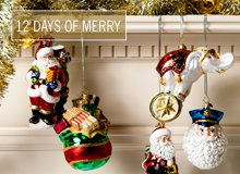 The 12 Days of Merry Christopher Radko Ornaments