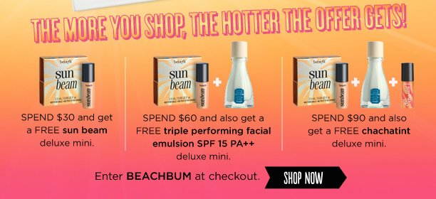 The more you shop, the hotter this offer gets!