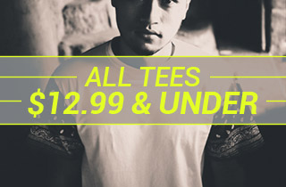 All Tees $12.99 and Below