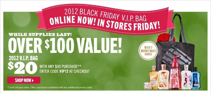 2012 Black Friday VIP Bag