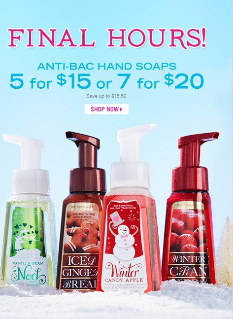 Anti-Bac Hand Soap - 5 for $15 or 7 for $20