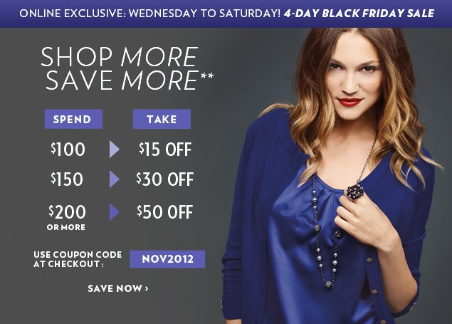 Online Exclusive: 4-Day Black Friday Sale!