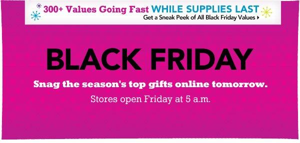 Black Friday Savings Start Online Thanksgiving Day