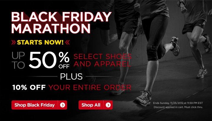 Black Friday Marathon. Shop Now.