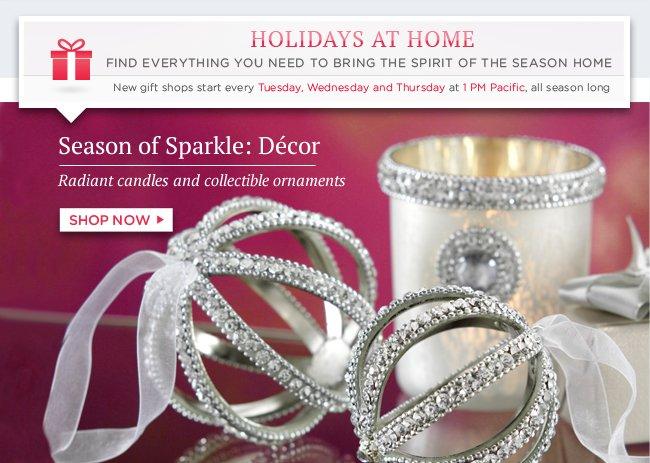 Shop Season of Sparkle: Décor