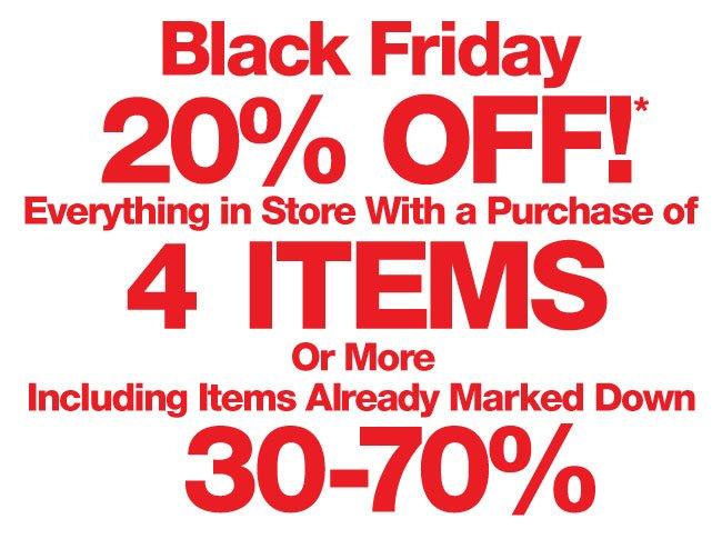 Black Friday 20% Off!
