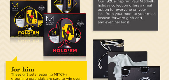 For him. These gift sets featuring MITCH grooming essentials are sure to win over the guys in your life this holiday season.