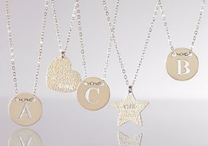 Personalized Initial Pendants