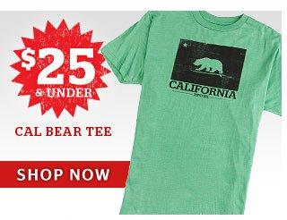 $25 & Under - Guys Cal Bear Tee - Shop Now