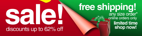Sale, plus Free Shipping on Any Order!* - Shop Now