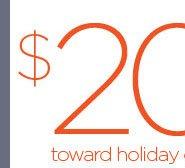 $20 toward holiday cards