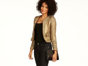 The gold metallic thread running throughout makes it look rich and the details set it apart from other jackets.