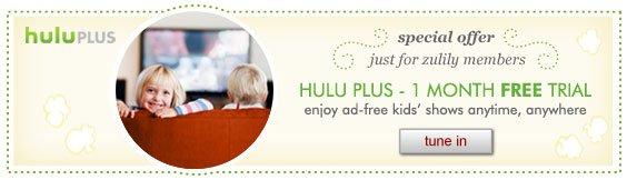 Hulu Plus - 1 month free trial