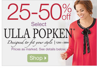 25-50% off Select Ulla Popken