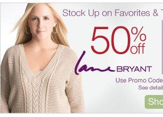 50% off Lane Bryant