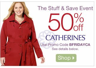The Stuff & Save Event: 50% off Catherines