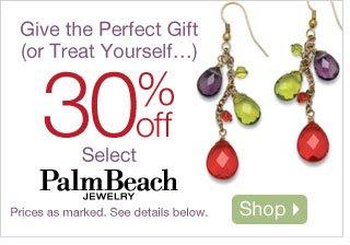30% off Select PalmBeach Jewelry