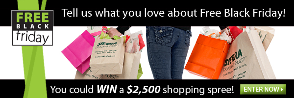 Free Black Friday! Win a $2,500 shopping spree! Enter now!