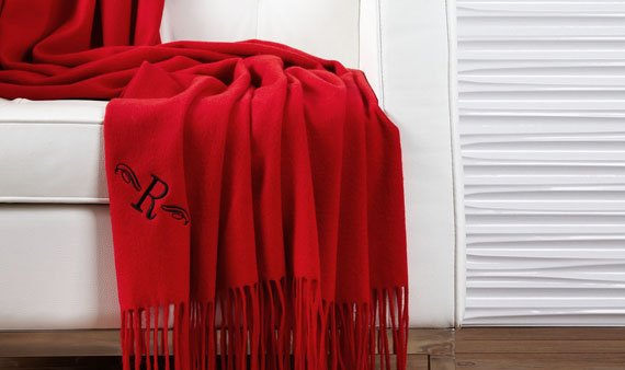 Monogram Cashmere Throws   - Visit Event