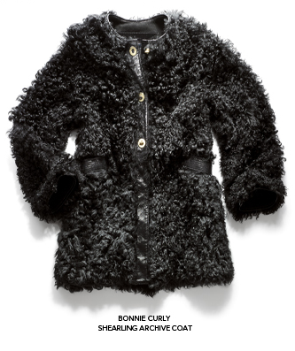 curly shearling archive coat
