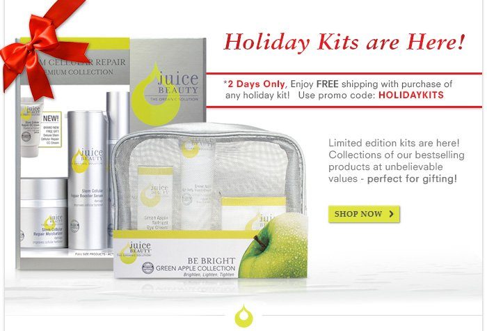 *Order today and they ship FREE! Use promo code: HOLIDAYKITS