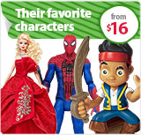Their Favorite Characters from $16
