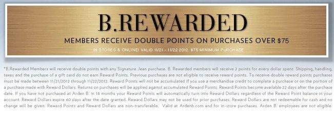 B. Rewarded Double Points | Shop Now!