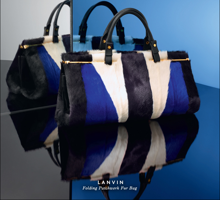 Rich color, lush texture: Shop Lanvin's luxe fur bag.