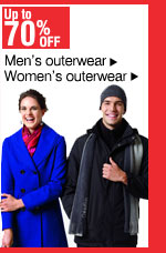 Up to 70% off Women's and men's outerwear