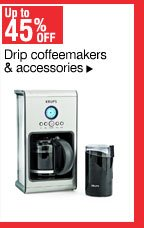 Up to 45% off Drip coffeemakers & accessories