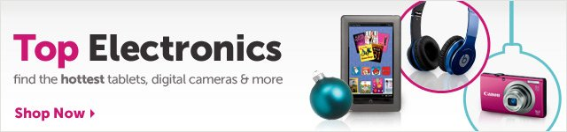 Top Electronics - find the hottest tablets, digital cameras & more - Shop Now