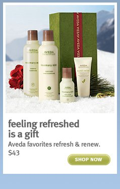 feeling refreshed is a gift. shop now.