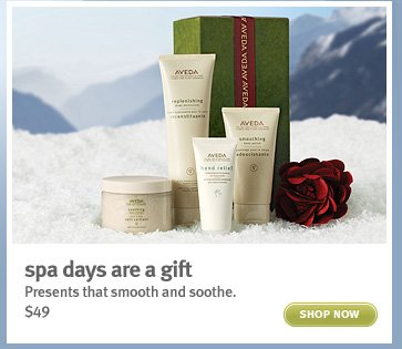 spa days are a gift. shop now.