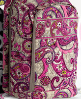 Laptop Backpack in Paisley Meets Plaid