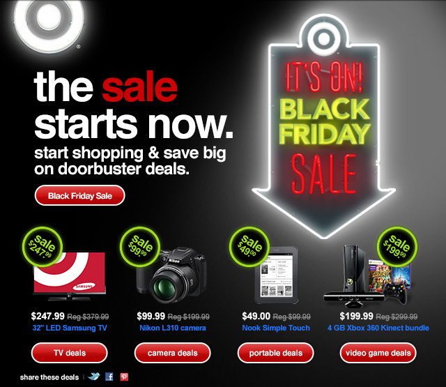 the sale starts now. start shopping and save big on doorbuster deals.
