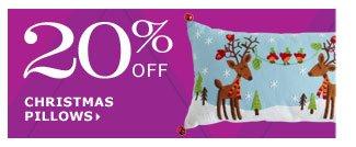 20% off Christmas pillows