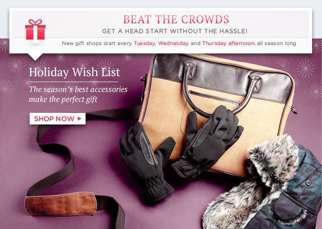 Shop Holiday Wish List: Men