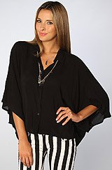 The Ting Open Back Shirt in Black