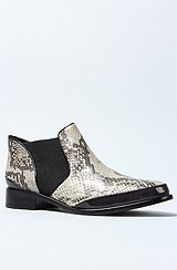 The Cameron Boot in Black Marble Python