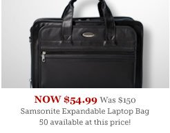 Samsonite Expandable Leather Top-Zip Laptop Bag