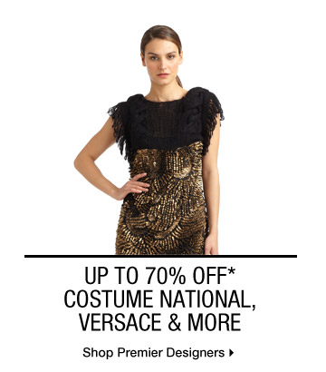 UP TO 70% OFF* COSTUME NATIONAL, VERSACE & MORE