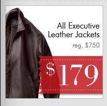 Executive Leather Jackets - $179 USD