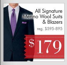 Signature Wool Suits & Blazers - $179 USD