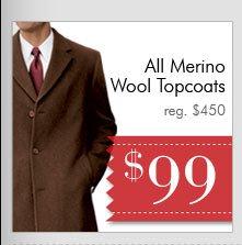 Merino Wool Topcoats - $99 USD