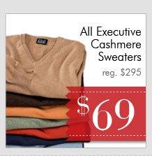 Executive Cashmere Sweaters - $69 USD